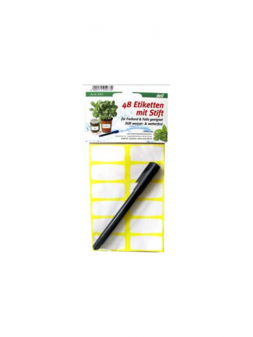 deti - Etiketten mit Stift
